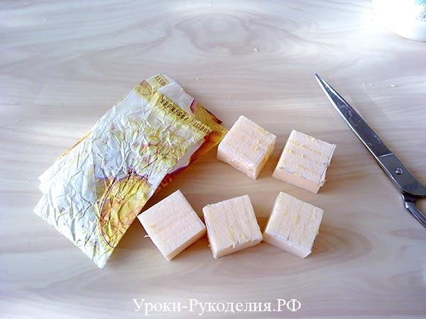 квадраты из пенопласта