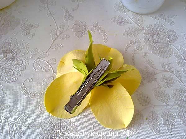 зажим орхидея