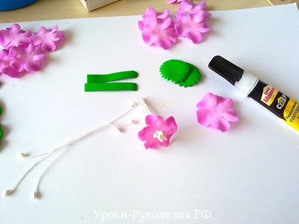 цветы для заколки