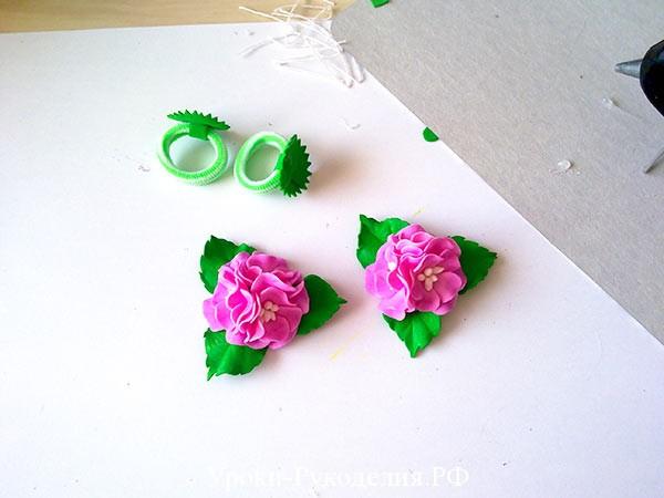 цветы на резинку