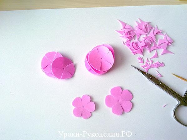 вырезанные цветы