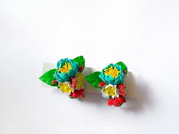 резинки с цветами, фоамиран