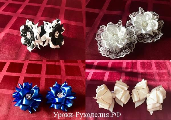 цветы и банты канзаши