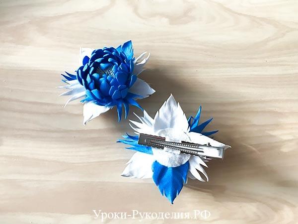 приклееный зажим на цветок