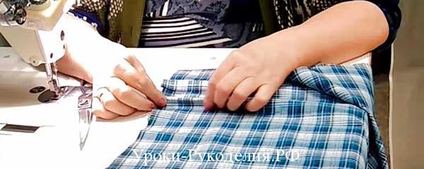 крой пошив рубашки