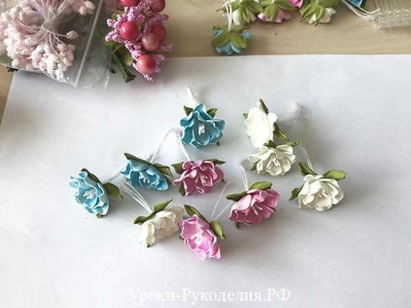 маленькие цветы из фома